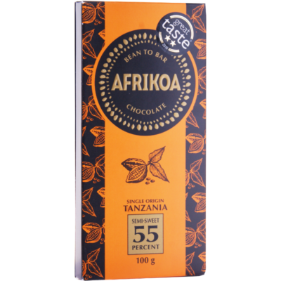Afrikoa_55%_Semi_Sweet_Chocolate_vorne