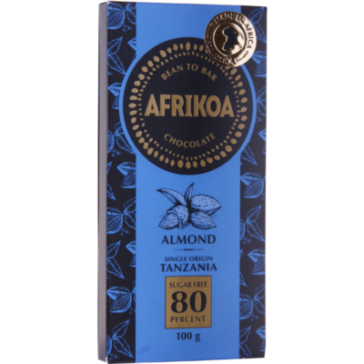 Afrikoa_80%_Sugar_free_Chocolate_Almonds_vorne