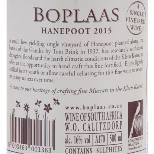 Boplaas_Hanepoot_Etikette