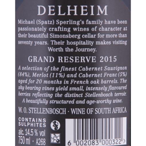 Delheim_Grand Reserve_Etikette