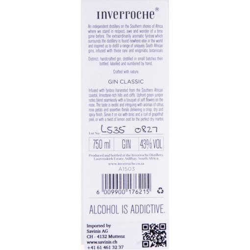 Inverroche_Gin_Classic_Etikette