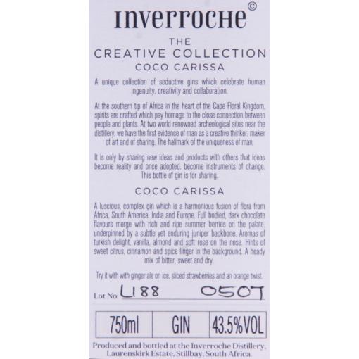 Inverroche_Gin_Coco_Carissa_Etikette
