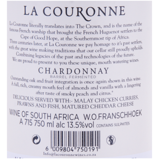 La_Couronne_Chardonnay_Etikette