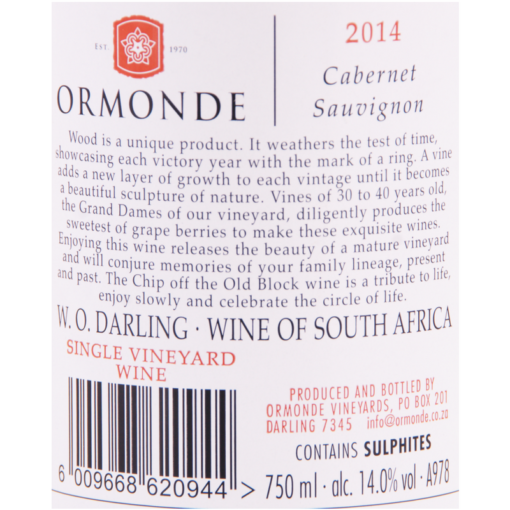 Ormonde_The_Old_Block_Etikette