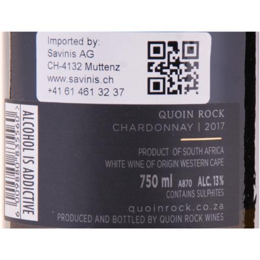 Quoin_Rock_Chardonnay_Etikette