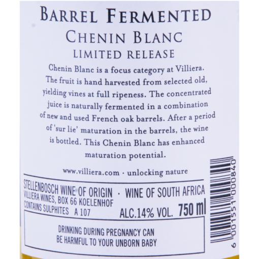 Villiera_Chenin Blanc_Barrel_Fermented_Etikette